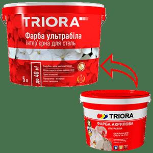 Краска акриловая ультрабелая TRIORA