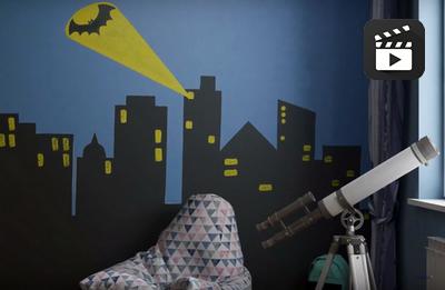 Необычный дизайн для комнаты тинейджеров «Боишься ли ты темноты?»