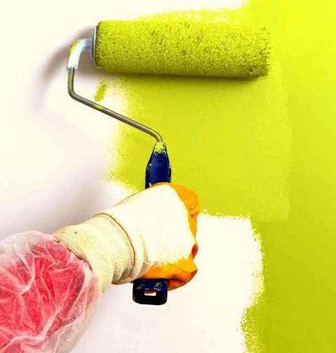 Покрашенные стены как альтернатива кафелю в ванной