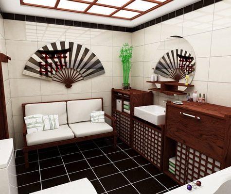 Японский стиль и дизайн ванной комнаты