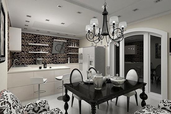Дизайн кухни в стиле ар деко