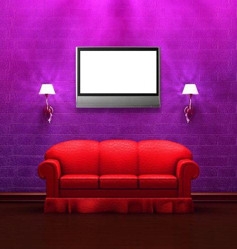 Красный и фиолетовый в интерьере: яркие и необычные идеи